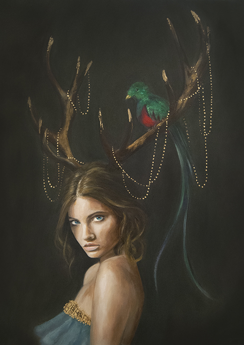 The Lady with Golden Horns