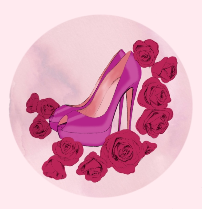 Beth Shak heels and roses